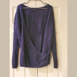 Forever 21 navy low cut sweater